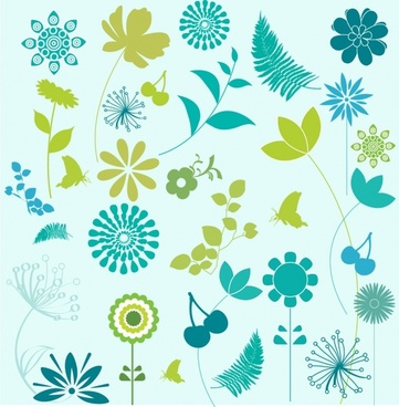 Flower and Leaf Design Elements