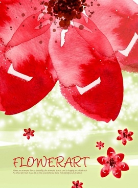 flower art watercolor pattern background psd layered 1