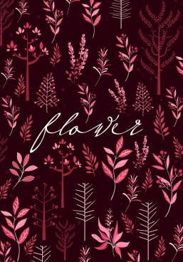 flower background dark red decor various icons