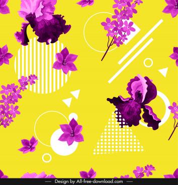 flower background violet design flat geometrical decor