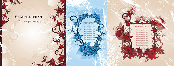 flower border fashion vector