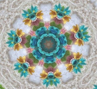 flower bouquet doily background