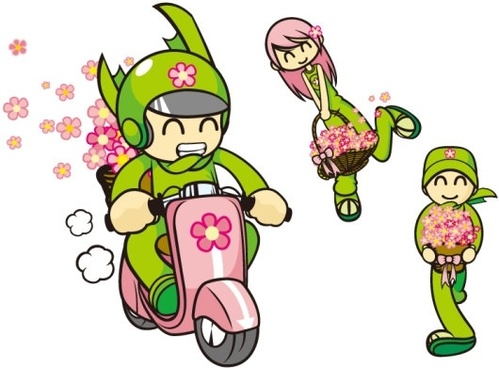 flower characters vector