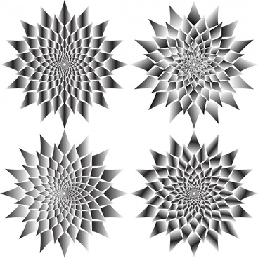 flower cliparts decoration with delusion background