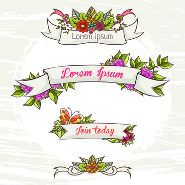 flower decor illustration vector