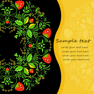 flower decorative style background vector