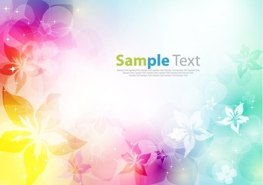 flower design colorful background vector illustration