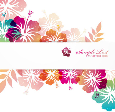flower elements background vector graphics