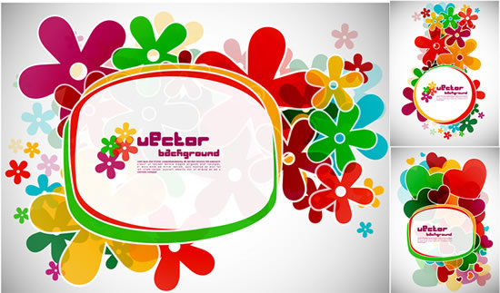 flower frames vector