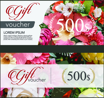 Gift voucher free vector download 2818 free vector for commercial flower gift voucher vintage template vector negle Images