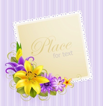 flower greeting cards 04 vector
