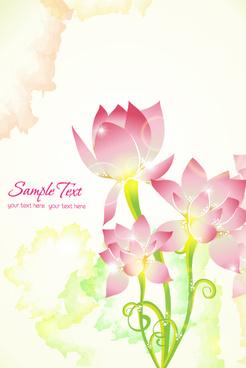 flower illustrations vector background
