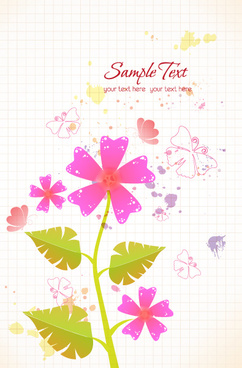 flower illustrations vector background