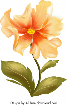 flower painting colored classical handdrawn sketch