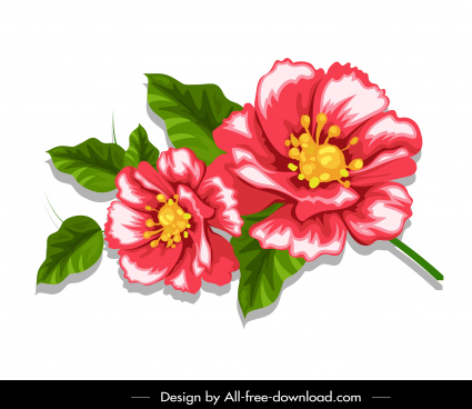flower painting colorful classical handdrawn decor