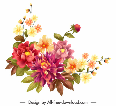 flower painting colorful elegant classical decor