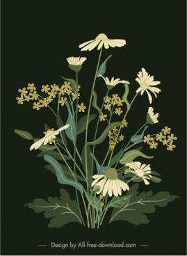 flower painting dark classical design