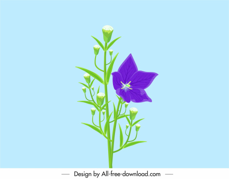 flower painting growing sketch modern design