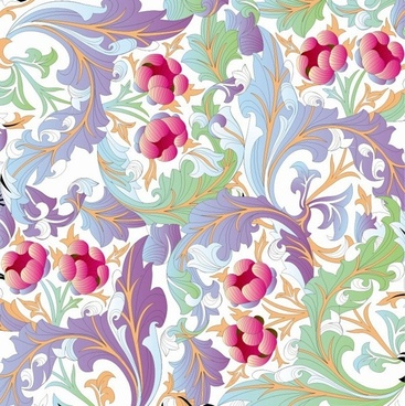 flower pattern background vector graphic