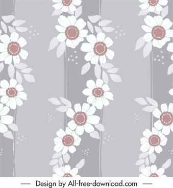 flower pattern template classical flat lissom design