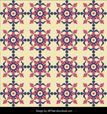 flower pattern template repeating vintage decor flat design