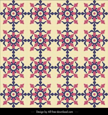 flower pattern template repeating vintage decor flat design