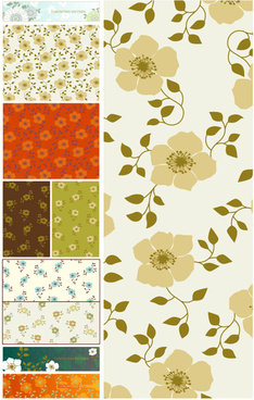 flower pattern vector collections