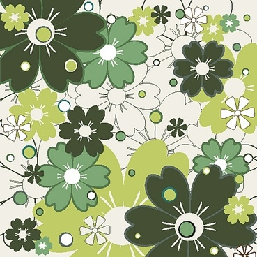 flower patterns 01 vector