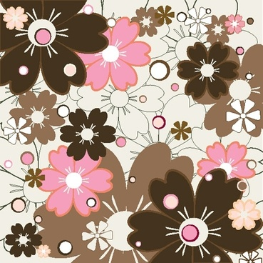flower patterns 02 vector