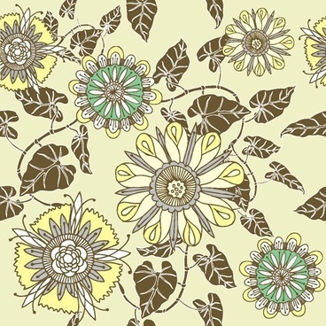 flower patterns 05 vector