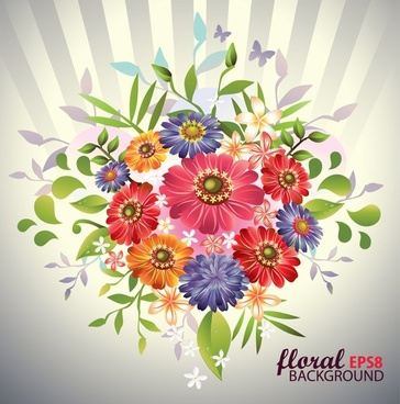 flower ribbon vector