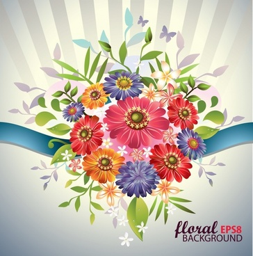 flower background multicolored modern elegant decor