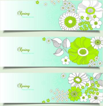 flower spring banner vector