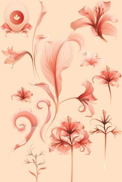 elegant seamless pattern vector illustration with beautiful flower