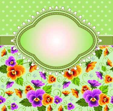 flower with frame background vector