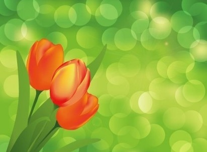 flower with green art background vector graphic art