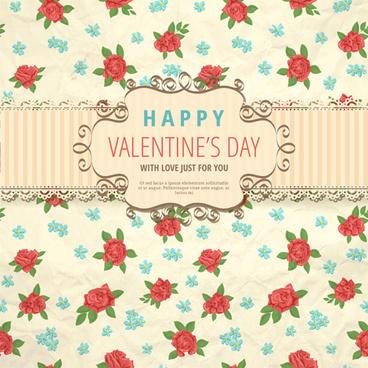 flower with valentine day background vector