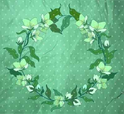 flower wreath background classical green decor