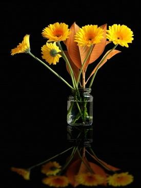 flower yellow vase