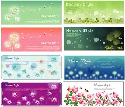 flowering plants banner vector