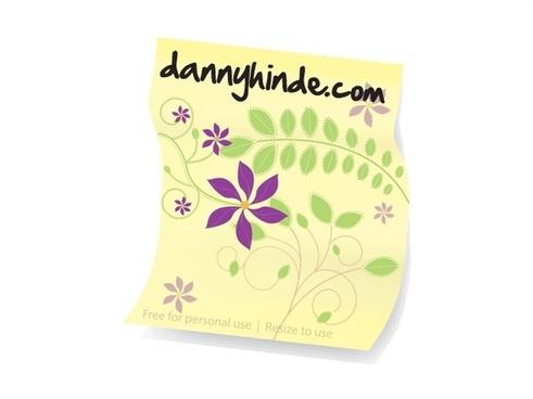 banner design with decorative paper illustration