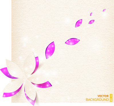 flowers and petals background design vector