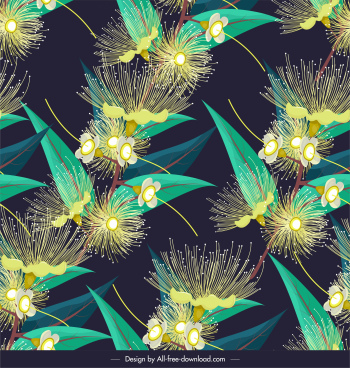 flowers background blooming sketch colorful repeating decor