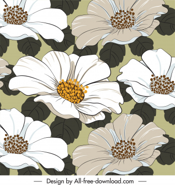flowers background blossom decor classical design
