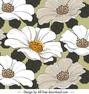 flowers background blossom decor classical design