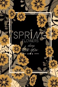 flowers background classical dark design