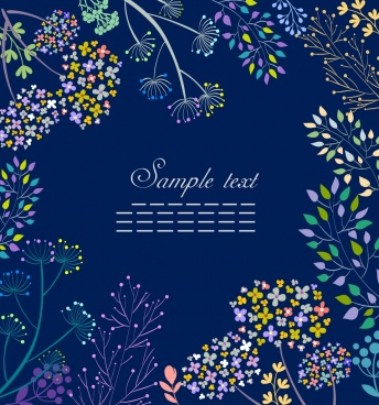 flowers background colorful blooming icons decoration