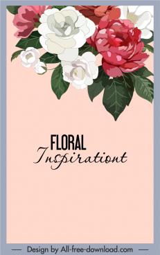 flowers background colorful decor vintage handdrawn design