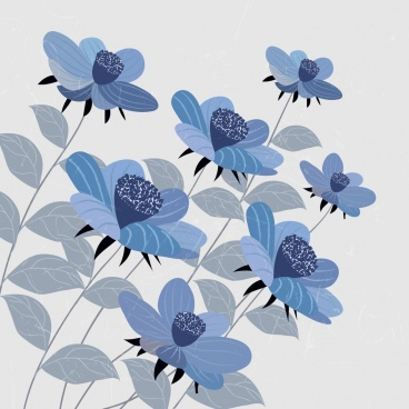 flowers background dark blue decor
