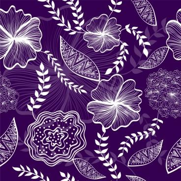 flowers background flat violet design